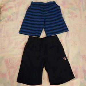 Lucky Brand & Fila shorts,2 pairs of shorts,sz 4T